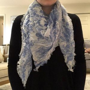 Blue and White Skull Scarf